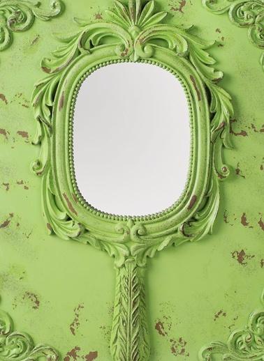 Vintage Intaglio Dekoratif Ayna-Dekorazon